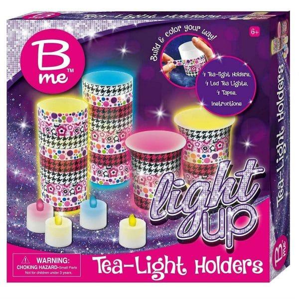 B me Build n Colour your way Light Up Tea Light Holders