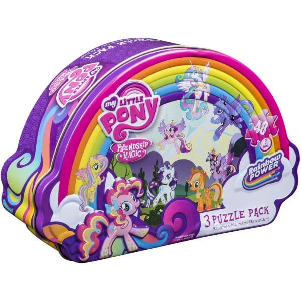 My Little Pony 3 Puzzle Pack w Shaped Tin