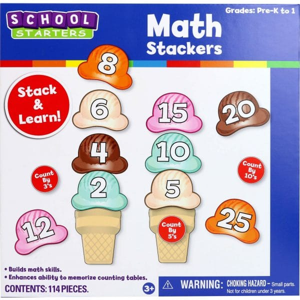School Starters Math Ice Cream Stackers Game