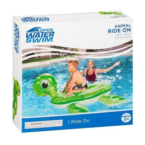 Open Water Swim Inflatable Animal Ride On Turtle