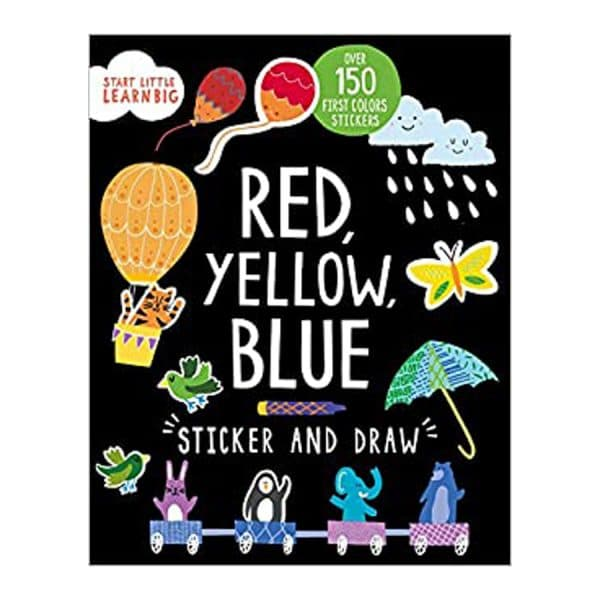Red, Yellow, Blue Sticker and Draw Paperback