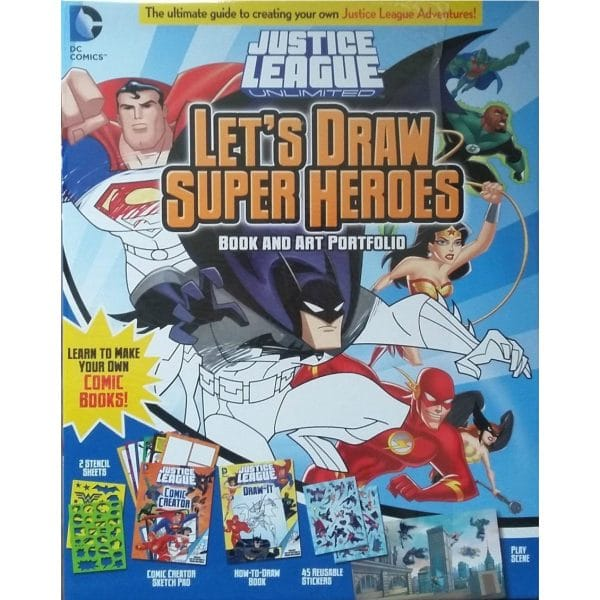 Justice League Lets Draw Super Heroes