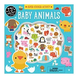 Baby Animals Super Sticker Activity Book Paperback