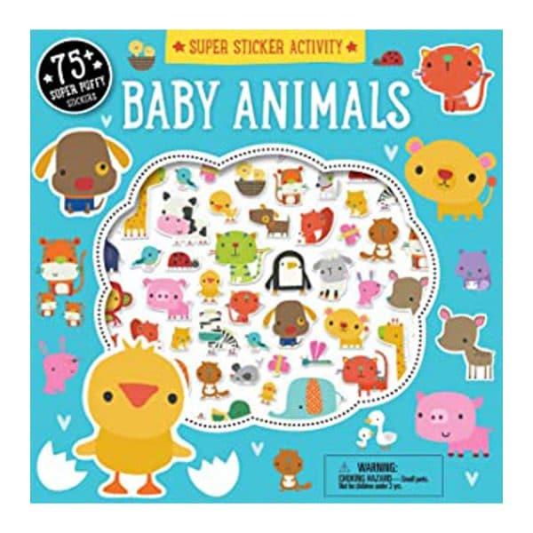 Baby Animals Super Sticker Activity Book Paperback