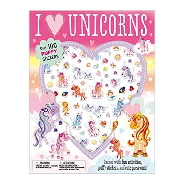 I Love Unicorns Puffy Sticker Activity Book Paperback
