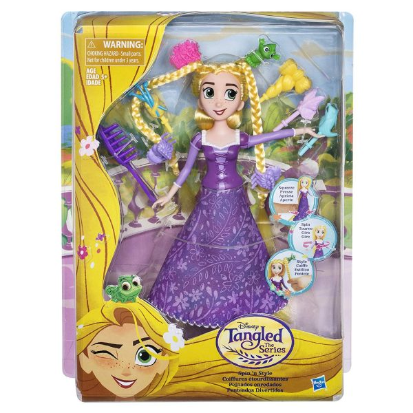 Tangled Spin n Style Rapunzel Doll Playset