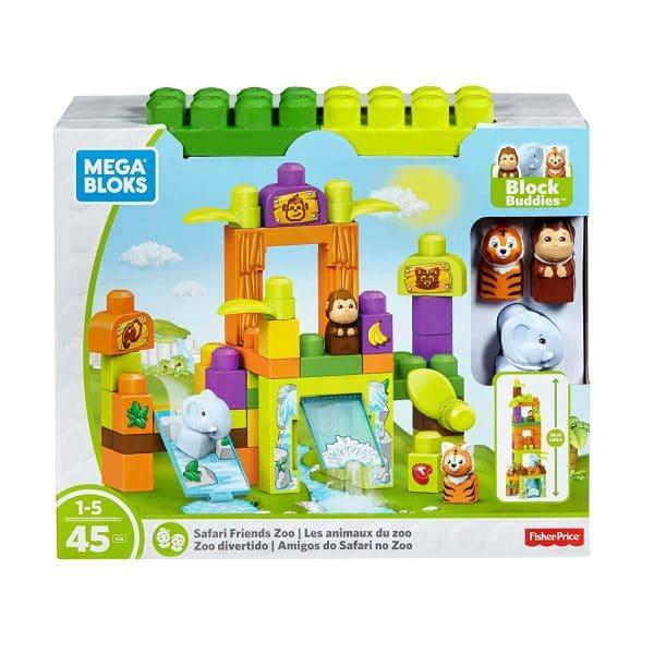 Mega Bloks Safari Friends Zoo Building Set 45 pc