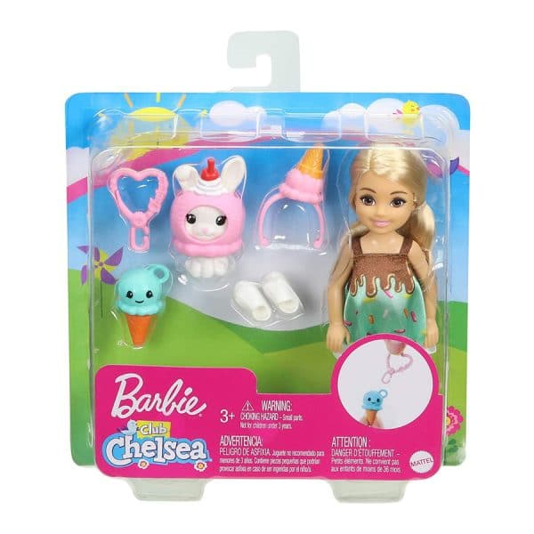 Barbie Club Chelsea Dress Up Doll - Ice Cream Costume
