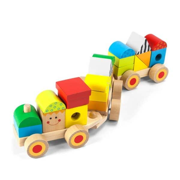 Wooden Stacking Train 25 Pcs
