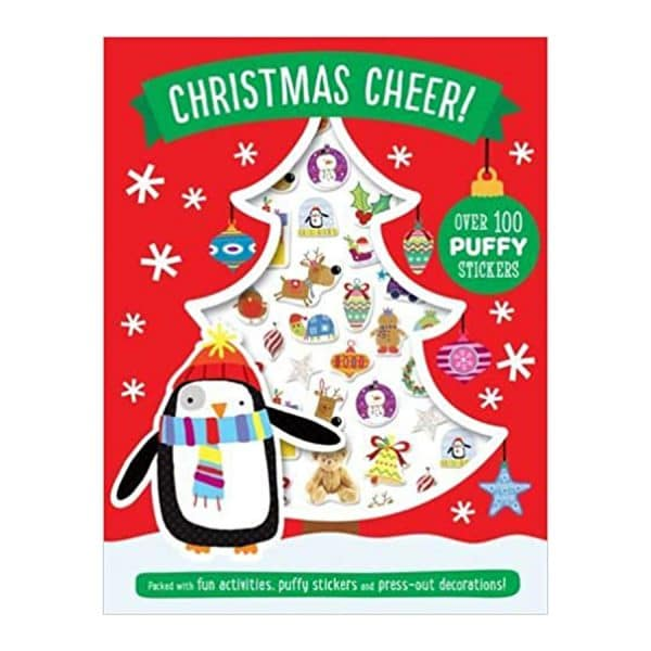 Christmas Cheer Puffy Stickers and Activity Book Paperback