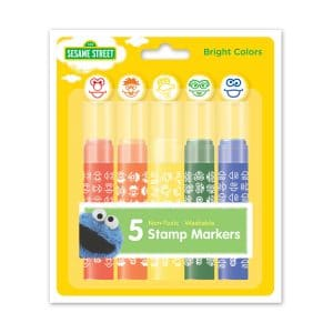 Sesame Street 5-Count Washable Stamp Markers