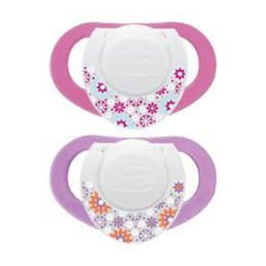 Chicco NaturalFit 2-Pack Deco Orthodontic Pacifier (4M+) PINK