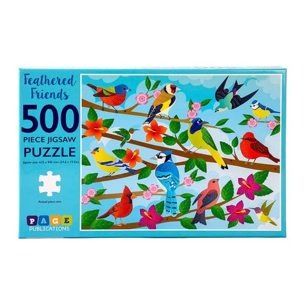 Feathered Friends 500 Piece Jigsaw Puzzle