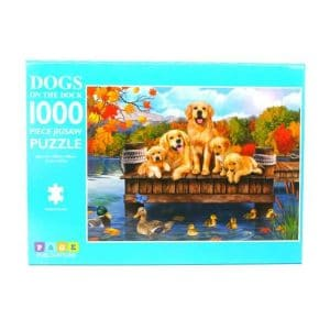 Dogs on the Dock 1000 Piece Jigsaw Puzzle