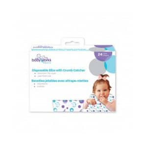 Babyworks Disposable Bibs with Crumb Catcher