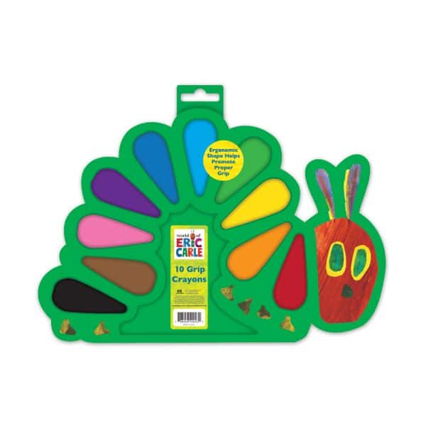 World of Eric Carle 10-Count Grip Crayons in a Tray