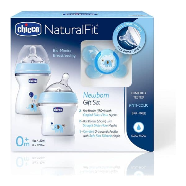 Chicco NaturalFit Newborn Gift Set -BLUE