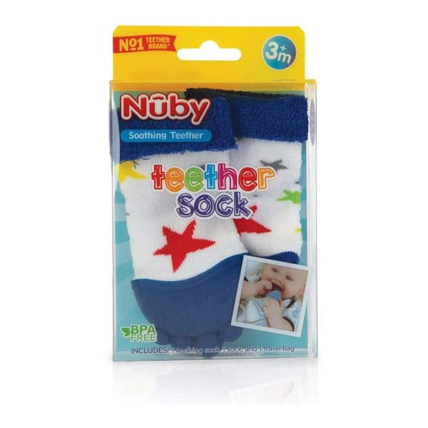 Nuby Teether Sock (Style May Vary)