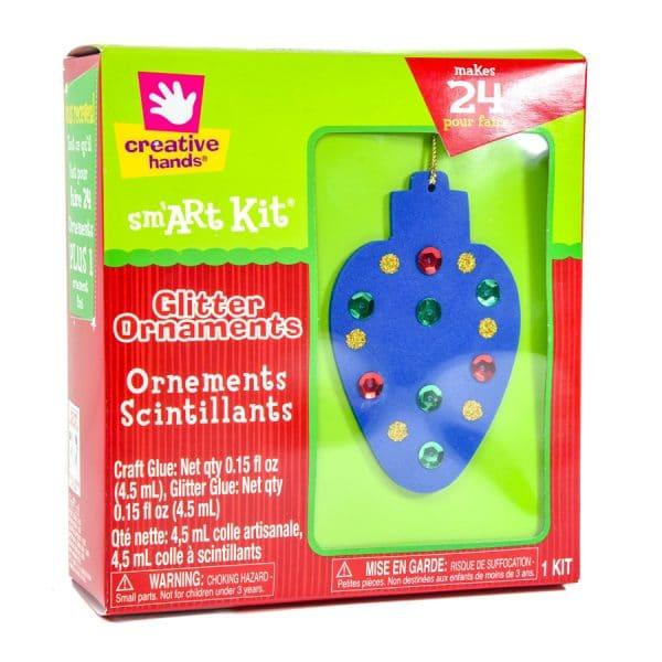 Glitter Ornaments Kit (Makes 24)