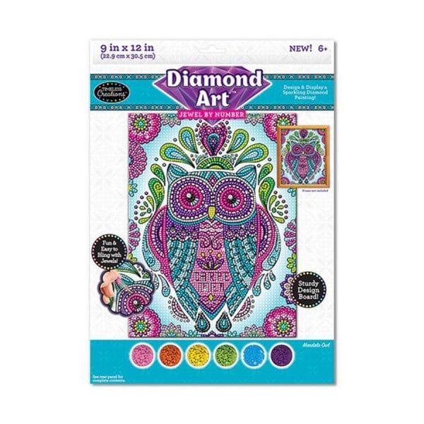 Diamond Art Jewel By Number Owl
