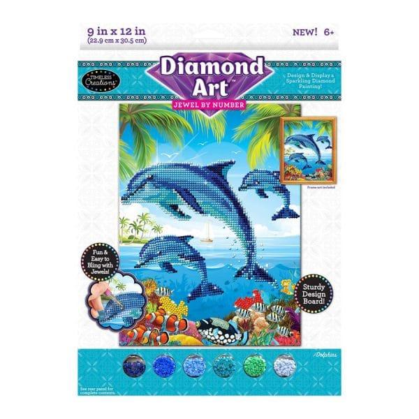Diamond Art Jewel By Number Dolphin