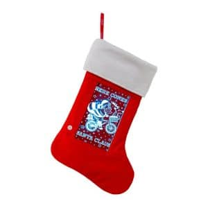 Light Up Holiday Stocking - Santa