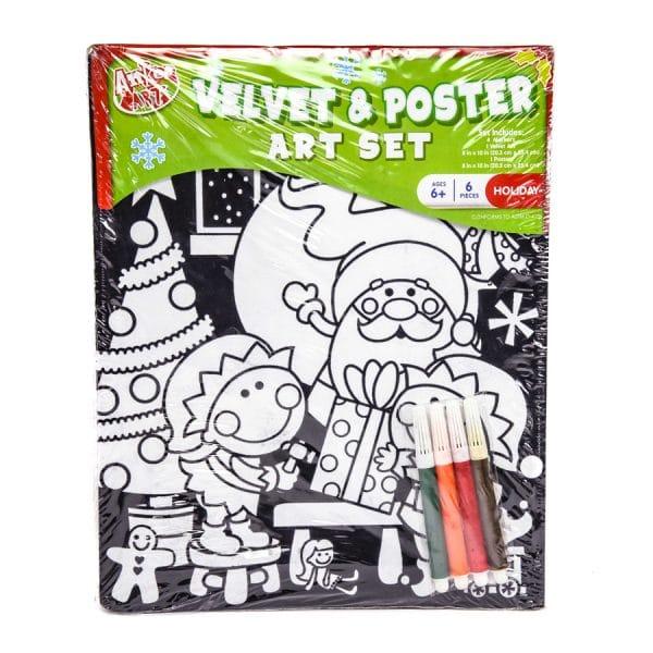 Christmas Velvet and Poster Art Set