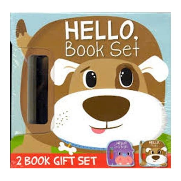 HELLO Book Set (2 Book Gift Set - Safari, Pets)