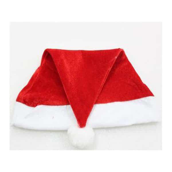 Santa Hat (Velvet) with Plush Cuff