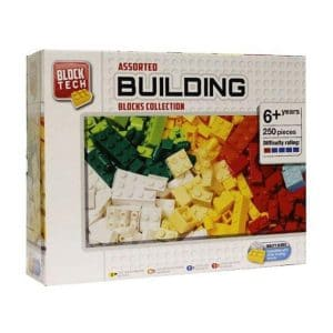Block Tech Assorted Building Blocks Collection (250 Pieces)