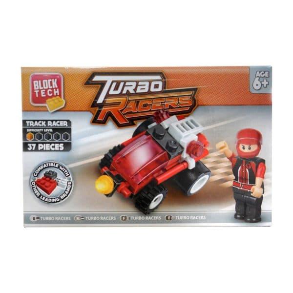 Block Tech Turbo Racers Track Racer (37 Piece) Set