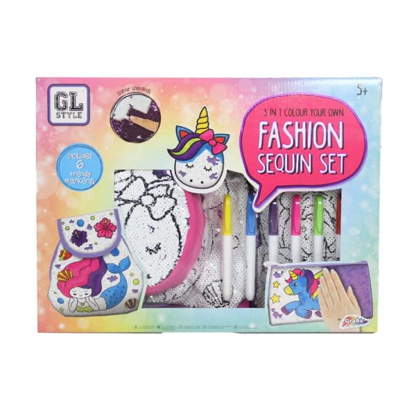 GL Style 3 in 1 Colour Your Own Fashion Sequin Set