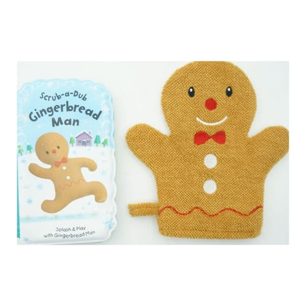 Scrub-A-Dub Gingerbread Man: Bath Book and Bath Mitt Set