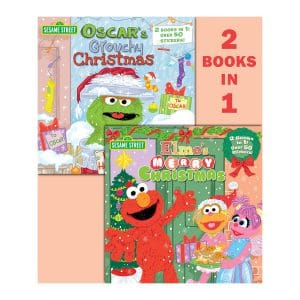 Sesame Street Elmo's Merry Christmas/Oscar's Grouchy Christmas (2 Books in 1 with over 50 Stickers)