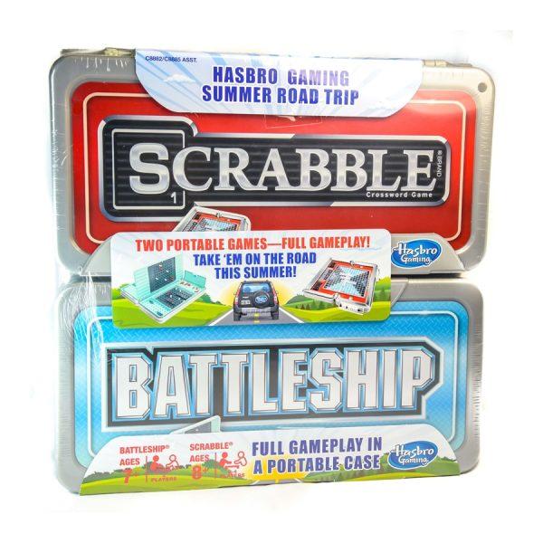 Hasbro Gaming Road Trip Series Set: Scrabble and Battleship