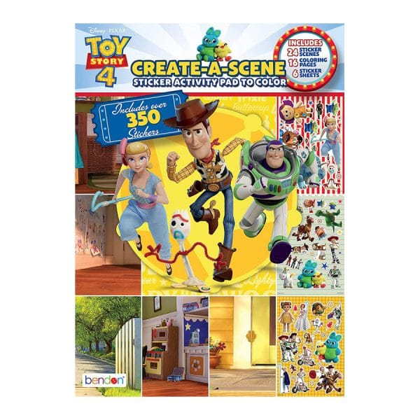 Toy Story 4 Create-A-Scene Sticker Activity Pad to Color