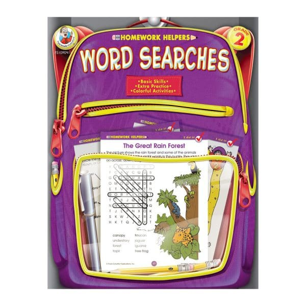 Homework Helpers Word Searches Grade 2