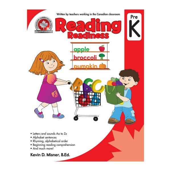 Reading Readiness (Pre Kindergarten) Canadian Curriculum Paperback
