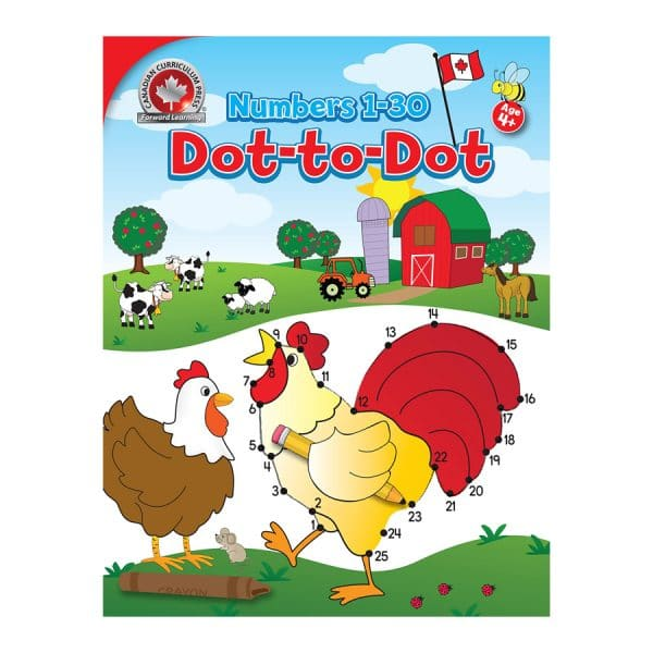 Numbers 1-30 Dot-to-Dot Canadian Curriculum Paperback