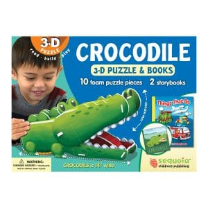 Crocodile 3D Puzzle & 2 Book Set