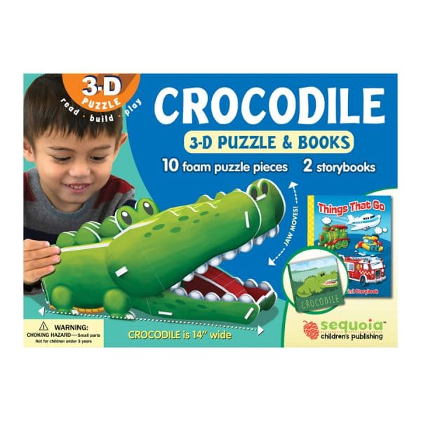 Crocodile 3D Puzzle & 2 Book Set