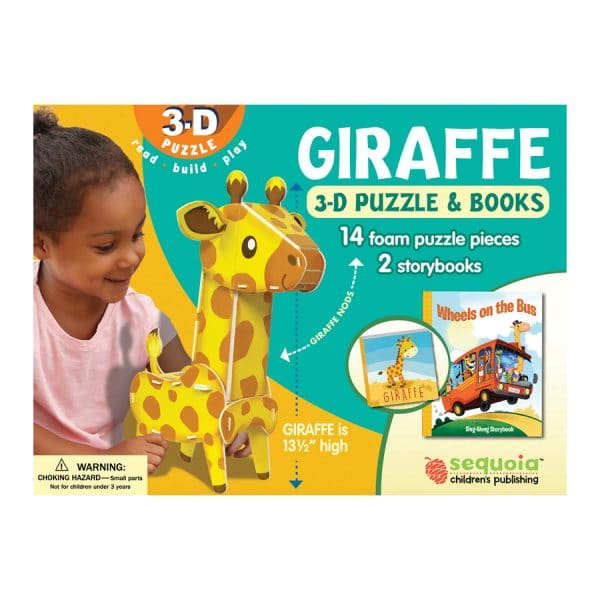 Giraffe 3D Puzzle & 2 Book Set