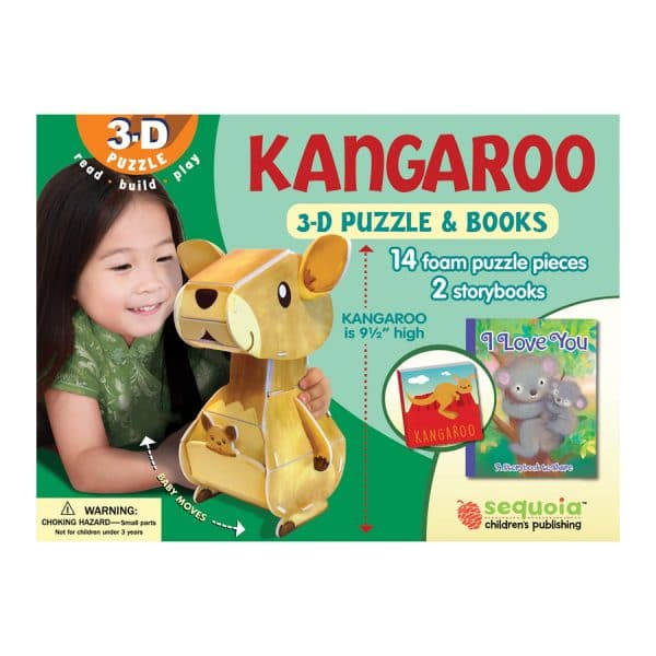Kangaroo 3D Puzzle & 2 Book Set