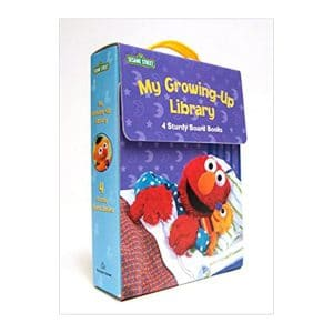 Sesame Street My Growing-Up Library (4 Book Set) Board Books