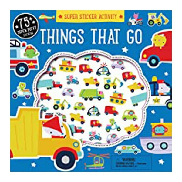 Things that Go Super Sticker Activity Sticker Book Paperback