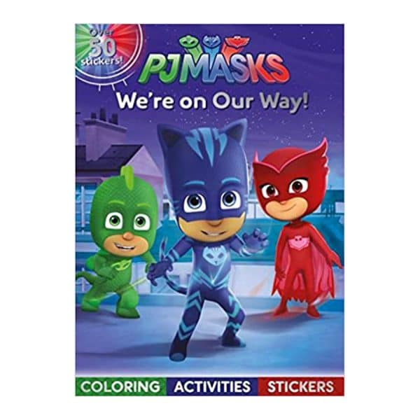 PJ Masks: We're on Our Way!: Coloring, Activities, Stickers Paperback