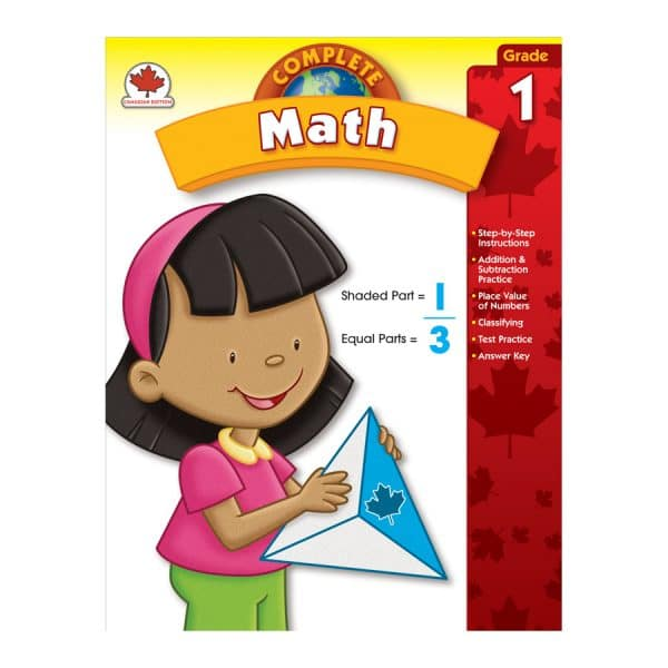 Canadian Complete Math Grade 1 Workbook