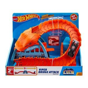 Hot Wheels City Nemesis Viper Bridge Attack Playset