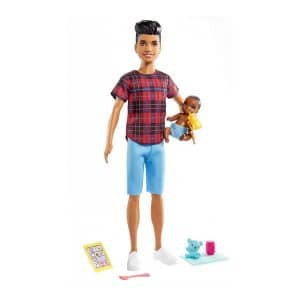 Barbie Skipper Babysitters Inc Playset (Plaid Shirt Ken)