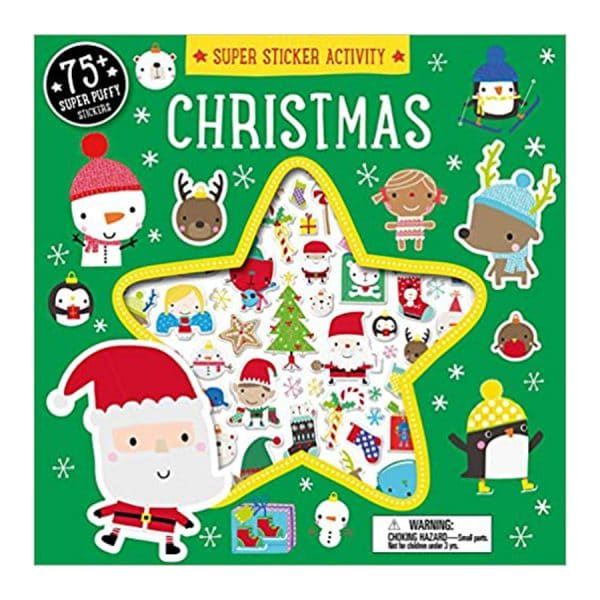 Christmas Super Sticker Activity Book with over 75 Puffy Stickers Paperback